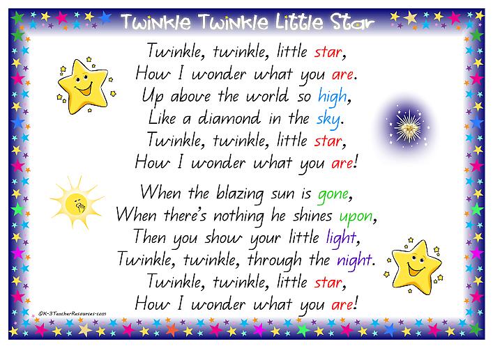 Twinkle Little Star Nursery Rhyme